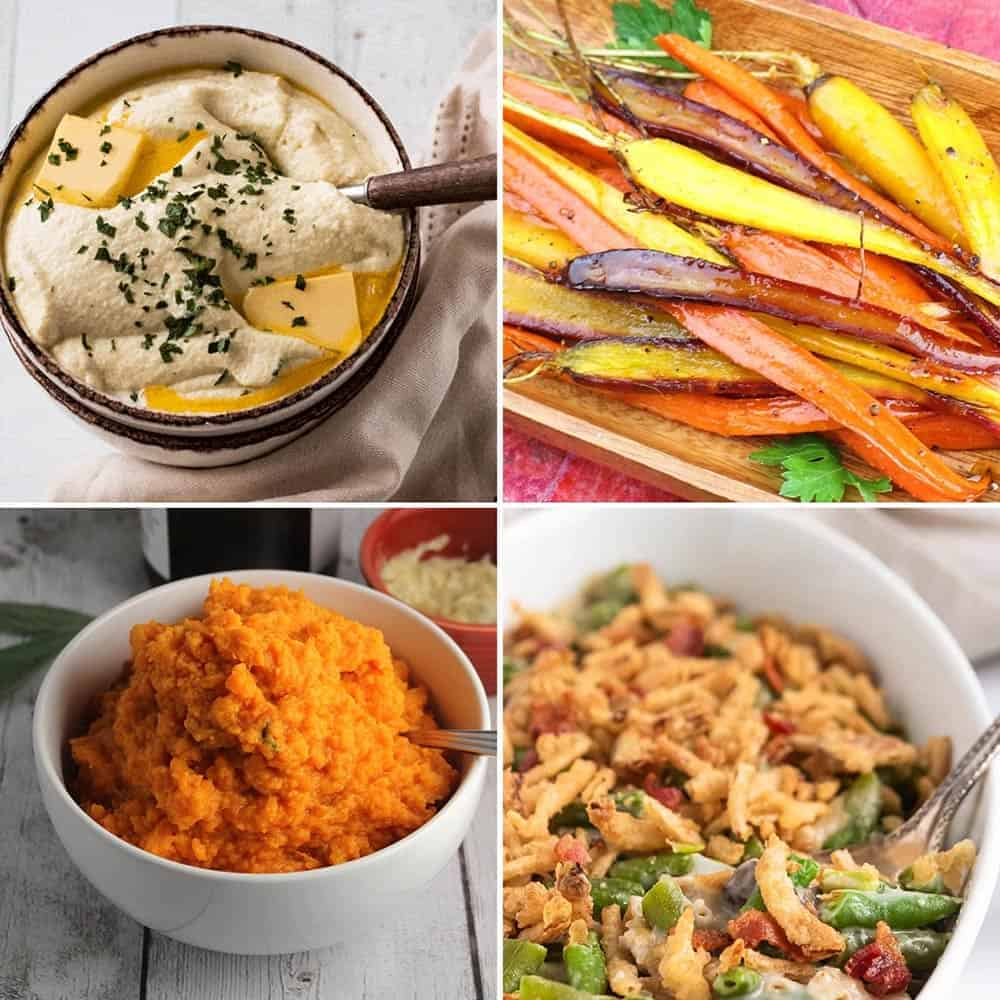 roundup of 23 creative Thanksgiving side dish recipes.