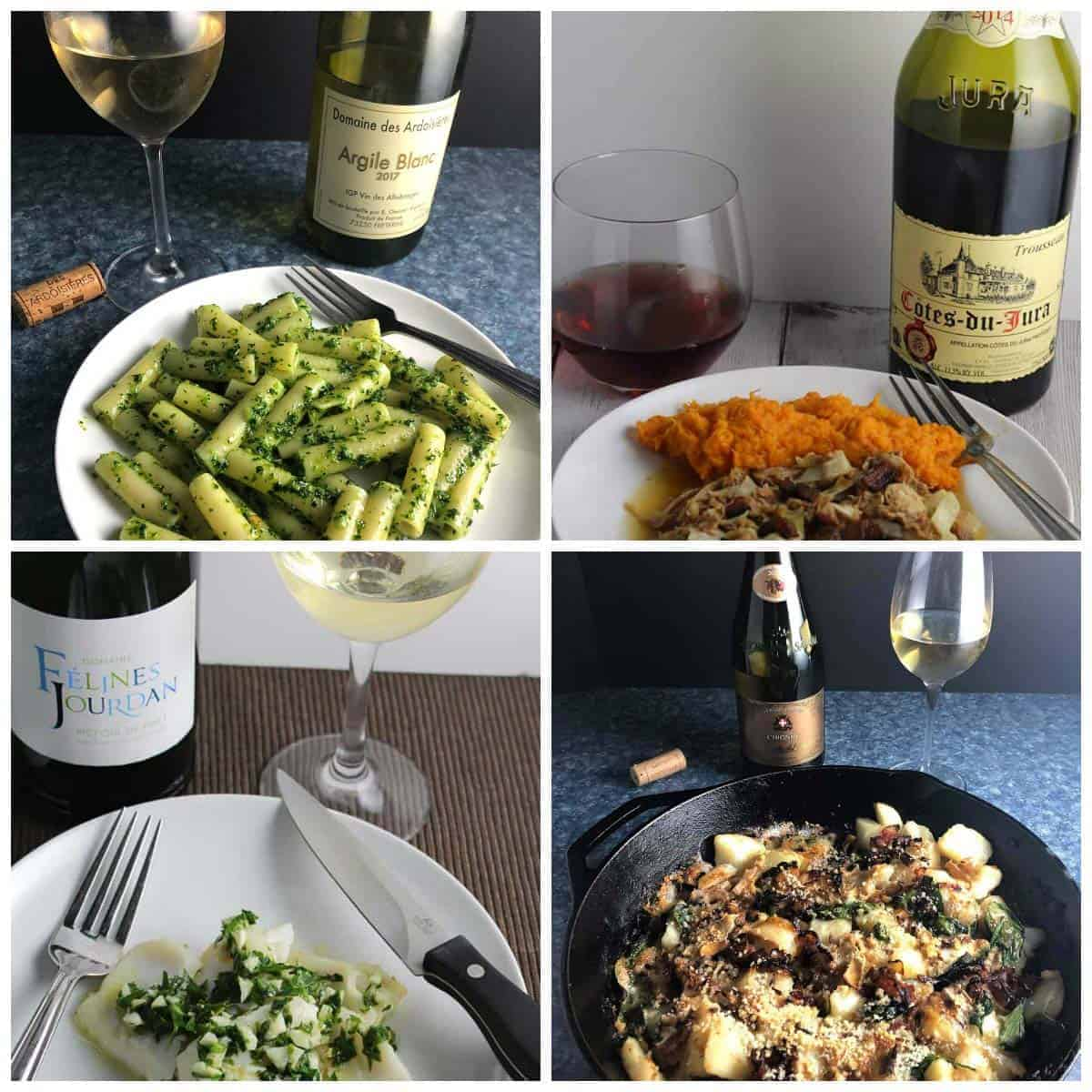 collage of great French wines