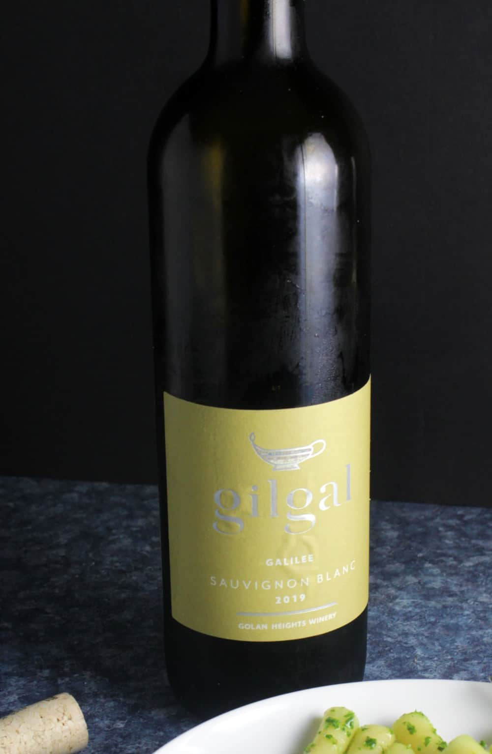 bottle of Gilgal Sauvignon Blanc.