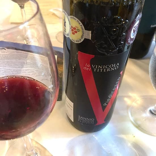red wine from Sannio, Italy