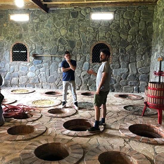 winemaking at Chubini winery