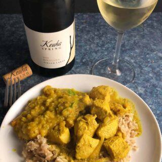 keuka spring riesling with Indian food.