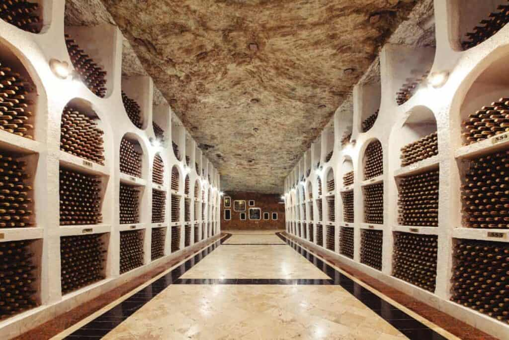underground wine collection