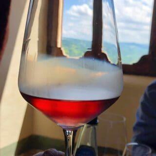 cerasuolo d'Abruzzo in a glass.