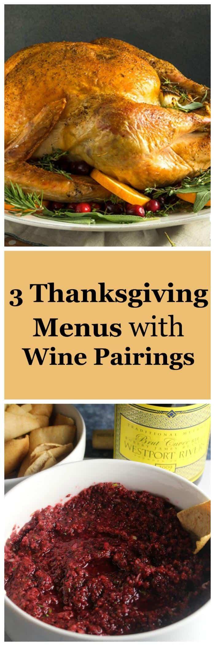thanksgiving menu collage.