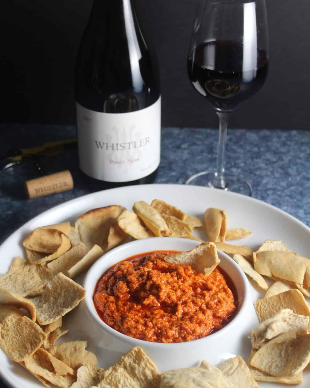 muhammara paired with Pinot.